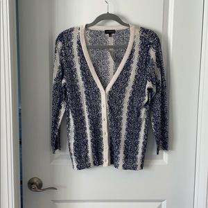 NWT The Limited cardigan - blue/white - Size M